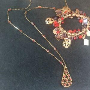 Lia Sophia Necklace & Bracelet